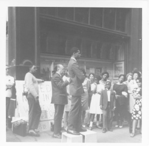 Bob Philips Service at School Committee Headquarters Freedom Vigil, Spring 1965