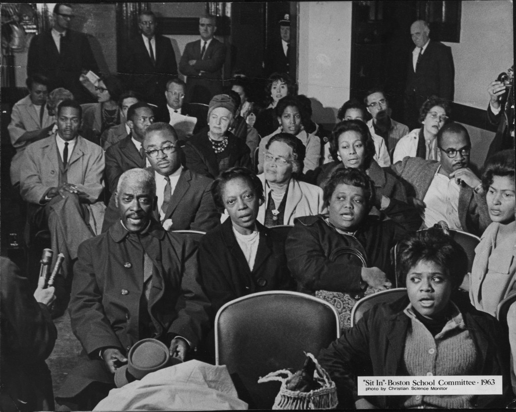 Parents and Community Leaders at the first sit-in in June 1963.